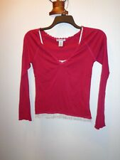 Junior's One Step Up Layered Long Sleeve Top Size Large