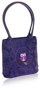 Purple Grab Bag -  Cotton Owl design Zip Closure Fair Trade BNWT **LAST ONE**
