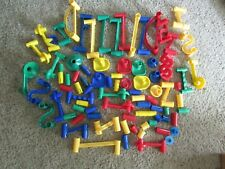 MARBLE WORKS MARBLE MANIA MARBLE GAME 80+ PIECES BUILDING TOY