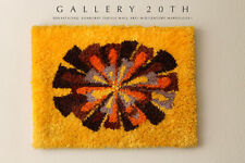 Mid Century Marvel! Modern Sunburst Wandbehang! Orange Textil Abstrakt