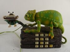 More details for vintage karma chameleon telephone sings and moves (tested) (b33)