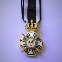 GERMAN Medal Prussia Hohenzollern Order mit Schwerten vom Fels zum Meer, Replica