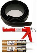 20 Ft. Black Garage Door Threshold Seal Kit Two Cartridges Metal Caulking Gum