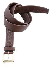 New BRIONI Maroon Red Handmade Genuine Leather Belt 40 42 / 110 NWT $595