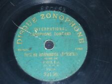 "FRENCH COMIC 78 rpm RECORD 7"" Disque Zonophone POLIN Paris BELBIATUS"