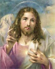 VINTAGE JESUS CHRIST RELIGIOUS CATHOLIC CHRISTIAN PASTEL CANVAS ART PRINT