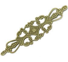 5 Antique Bronze Filigree Wraps Connectors Embellishments Card Making Craft 679