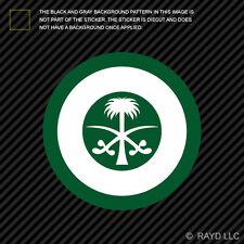 "4"" Royal Saudi Air Force Roundel Sticker Die Cut Decal RSAF Saudi Arabia SAU SA"