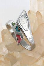 orologio donna sole bracciale acciaio fiori a0271