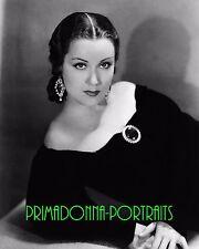 "FAY WRAY 8X10 Lab Photo B&W 1934 ""VIVA VILLA"" Elegant Bejeweled Movie Star"