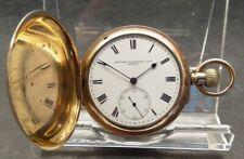 Ltd Full Hunter Pocket Watch, Working. Antique Rolled Gold Stewart Dawson & Co