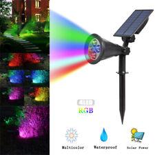 4LED Solar Spot Light RGB Garden Lawn Light Color-Changing Landscape Waterproof