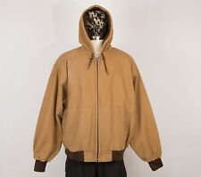 REDHEAD Men's Heavy Cotton Parka Jacket 3XL Beige Hooded Insulated