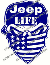 Jeep Life,Jeep,Jeep Nation,Cherokee,Liberty,Wrangler,Skull,Sticker,Vinyl Decal
