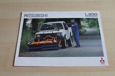 109955) Mitsubishi L200 - Kehrmaschine - Prospekt 09/1993