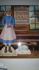 American Girl Kirsten and friends Paper Dolls with Outfits to Cut out and Scene