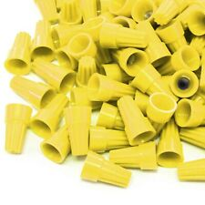 2500 pcs Yellow Screw On Wire Electrical Connectors Twist-On Easy Screw Pack