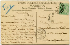 More details for 1906 liverpool ship + cape ocean post office on ppc madeira maritime postage due