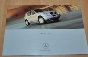 Mercedes Benz M-Class W163 Brochure Prospekt 0500 ENG Edition
