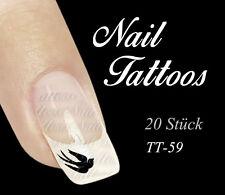 Nail Art  Schwalbe Vogel Tattoo Kult Rockabilly Pin Up Girl TT-59