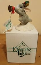 Charming Tails Holiday Trumpeter Figurine 87555~ bunny Cute New