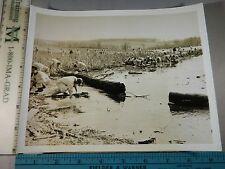 Rare Historical Original VTG 1944 Navy Cadet Survival Course WWII Iowa Photo