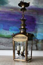 Charles Edwards Regency Pineapple Hall Porch Light Side Lamp Brass Lantern 2/2