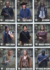 Walking Dead Season 5 Character Profile Complete 18 Chase Card Set C-1 to C-18