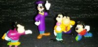 Vintage Disney Goofy pvc toy figure Lot Of 5 nice condition