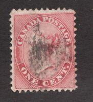 #14 - Canada - 1859 - 1 Cent - Used  - VG - superfleas