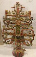 Huge Aurelis Flores Mexican Folks Art Tree Of Life Candelabra Late 19th C