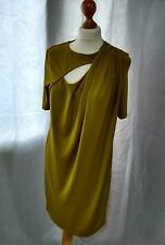 Womens Topshop Shift dress Lined Mustard Size 12