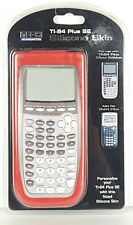 Red Silicone Calculator Skin Fits TI-84 Plus and TI-84 Plus SE, New P1