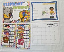 Elephant Ending Sounds Phonics Literacy Centers Kindergarten File Folder Game