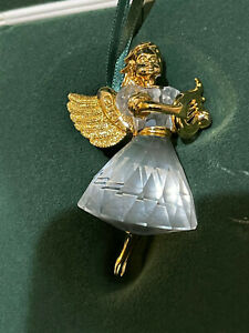 Swarovski Crystal Figurine 1998 Angel with Harp Ornament 9443 980 001