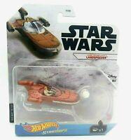 Hot Wheels Star Wars Starships Luke Skywalker's LANDSPEEDER IN HAND! SHIPS FAST!