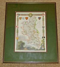 More details for antique reproduction map of buckinghamshire, mounted & framed