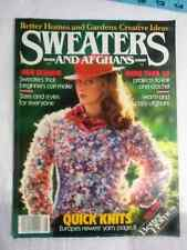 Vintage Better Homes and Gardens Sweater Patterns Knitting Crochet Afghans BOOK