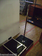 Two Way Black Garment Rack With Mannequin Display