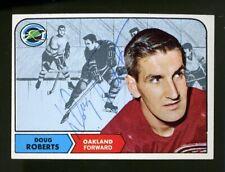 1968-69 Topps #88 DOUG ROBERTS Autograph/Auto Card Oakland Seals
