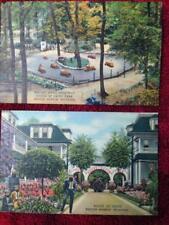 Lot of 2 Curt Teich House of David Postcards Benton Harbor, Michigan Linen 1949