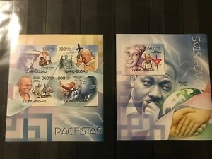 Imperf! Pope JohnPaul II - Martin Luther King - Gandhi - Lady Diana  MNH**Alb. 9