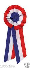 Cocarde Tissu Tricolore à Pans Accessoire de Déguisement Football France