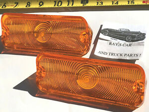 NEW REPLACEMENT 1964 CHEVROLET IMPALA / BEL AIR / BISCAYNE AMBER PARK LIGHT LENS