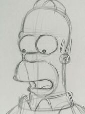 More details for original homer simpson art drawing production the simpsons series cartoon sketch