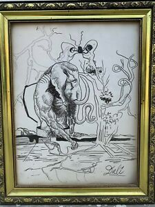 excellent painting,ink on old paper,masterpiece of old painter,signed and framed