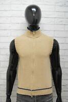 Maglione Uomo Fay Taglia 48 Cardigan Smanicato Pullover Lana Beige Man Sweater