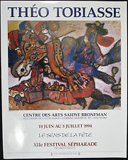 Theo TOBIASSE, Original Poster, 12th Sephardic Festival Montreal, 1994