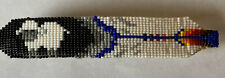 Navajo Hand-Beaded Feather Shape Sheep Spring Clasp Barrette