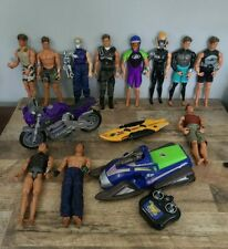 Huge Max Steel Action Figure Lot Of 11 Turbo Board Motorcycle & R/C Snowmobile